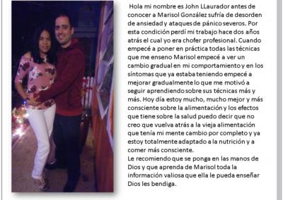Testimonio de John