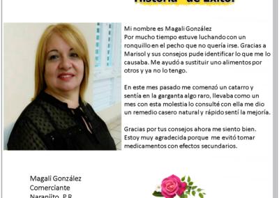 Testimonio de Magali Gonzalez