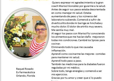 Testimonio de Raquel Rosado